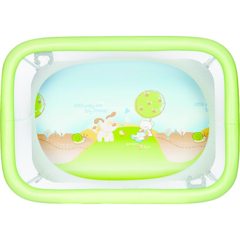 Tarc de joaca Comodo Plebani, compact, verde