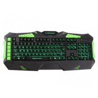 Tastatura Gaming USB iluminata Kestrel Esperanza, Negru/Verde