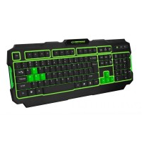 Tastatura Gaming USB Shadow Esperanza, 104 taste, LED Verde