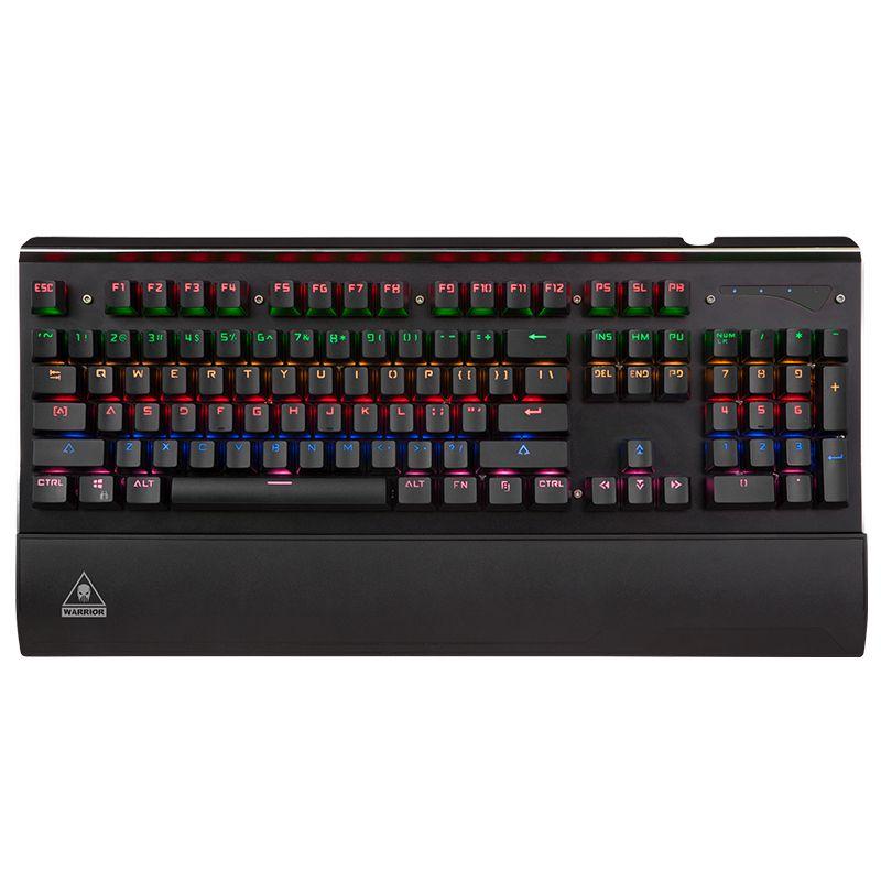 Tastatura gaming Warrior GK-100 Kruger & Matz, 104 taste, 4 indicatori LED, luminozitate reglabila
