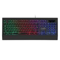 Tastatura gaming cu fir Warrior Kruger Matz GK-70, 104 taste, LED, Negru