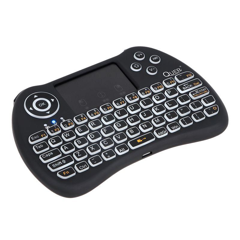 Tastatura Touchpad Smart TV Box Mini Quer Q5, lumina de fundal 2021 shopu.ro