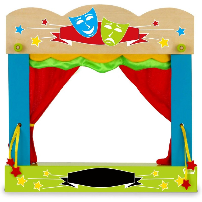 Teatru de papusi Fiesta Crafts, 45.5 x 47 cm, 3 ani+, Multicolor