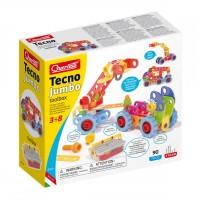 Techno Jumbo toolbox Quercetti, 90 piese, 3 ani+
