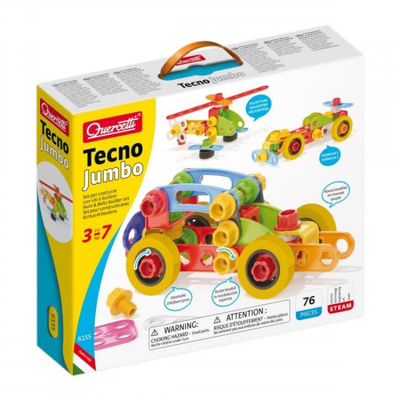 Joc de construit Quercetti Tecno Jumbo, 76 piese, multicolor 2021 shopu.ro