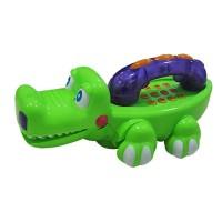 Telefon cu lumini si muzica, model crocodil