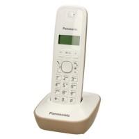 Telefon fix Dect Panasonic, ecran LCD, alimentare acumulator, montare perete, Alb