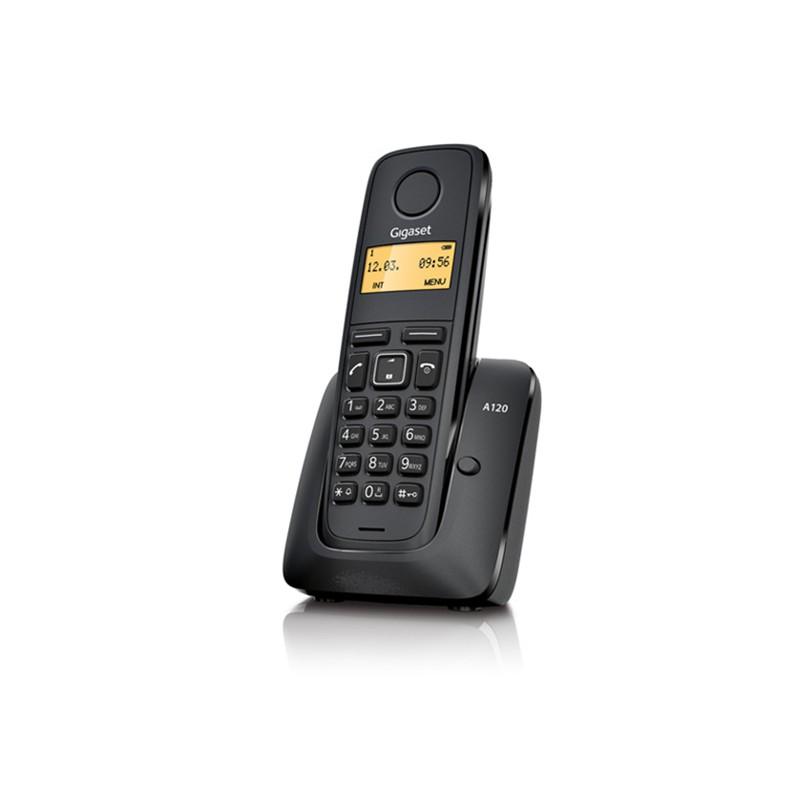Telefon fara fir Dect Siemens Gigaset A120 Duo, Negru