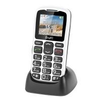 Telefon GSM Senior M-life, Docking, Radio FM, Lanterna, Alb