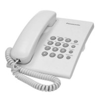 Telefon fix cu fir Panasonic, functie redial, Alb