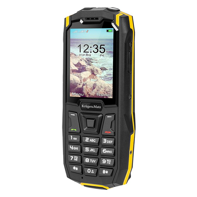 Telefon mobil Rugged Iron 2 Kruger & Matz, Dual-SIM, MicroSD, rezistent la praf si apa 2021 shopu.ro