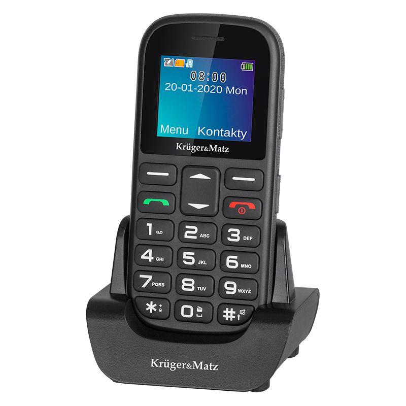 Telefon portabil Senior Simple 920 Kruger & Marz, display 1.77 inch, rezolutie 128 x 160 px, Li-Ion 800 mAh, 2 cartele SIM, bluetooth 2.1, functie handsfree
