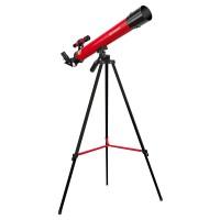 Telescop refractor Bresser Junior 45/600 AZ, putere marire 100x, Rosu