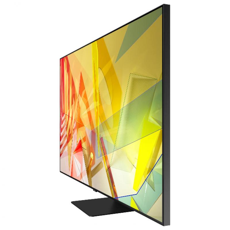 Televizor Smart Samsung, diagonala 163 cm, 4K Ultra HD, QLED, Clasa B, functie Real Game Enhancer, Negru