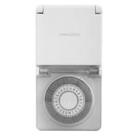 Priza cu temporizator mecanic Schuko, IP44, alimentare 220 V