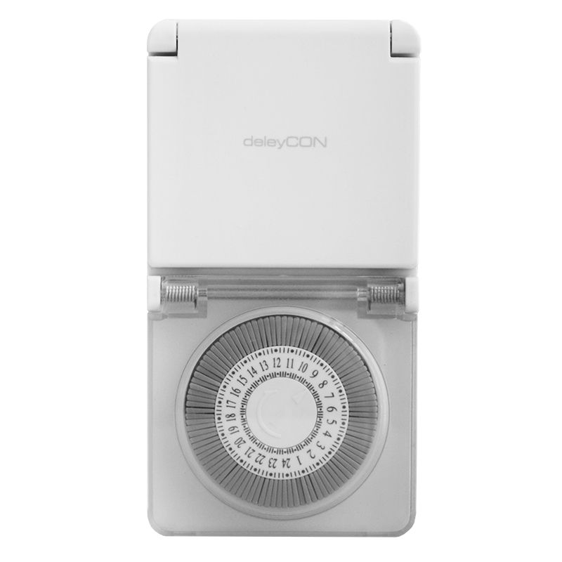 Priza cu temporizator mecanic Schuko, IP44, alimentare 220 V 2021 shopu.ro