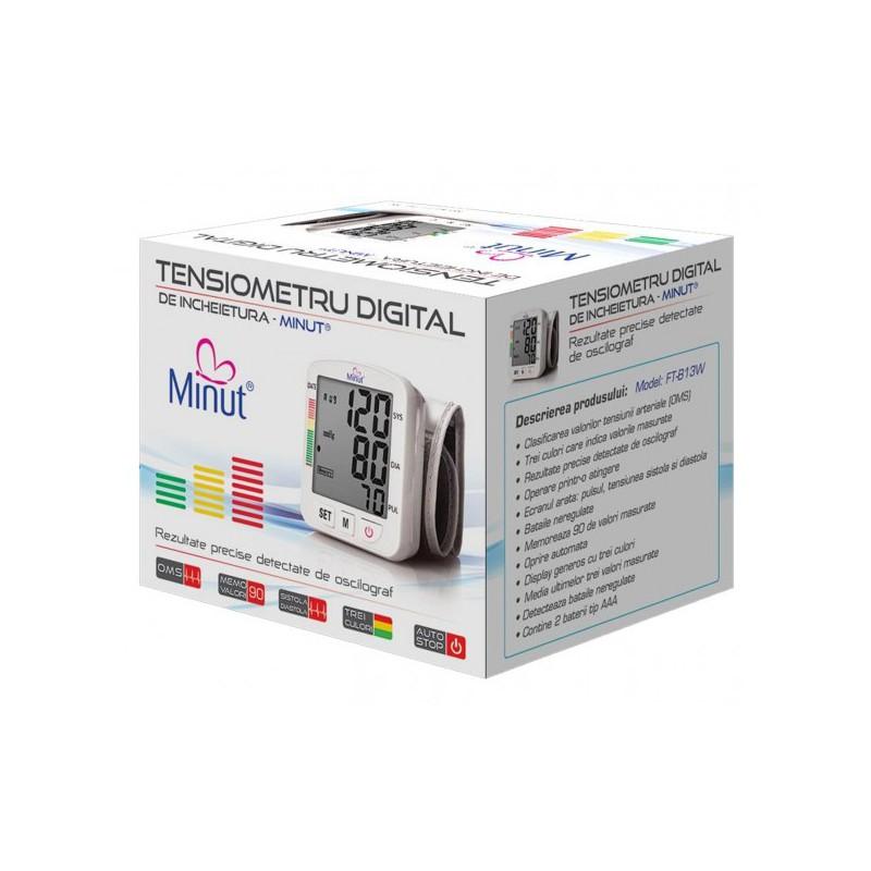 Tensiometru digital pentru incheietura mainii Minut, 90 valori masurate 2021 shopu.ro