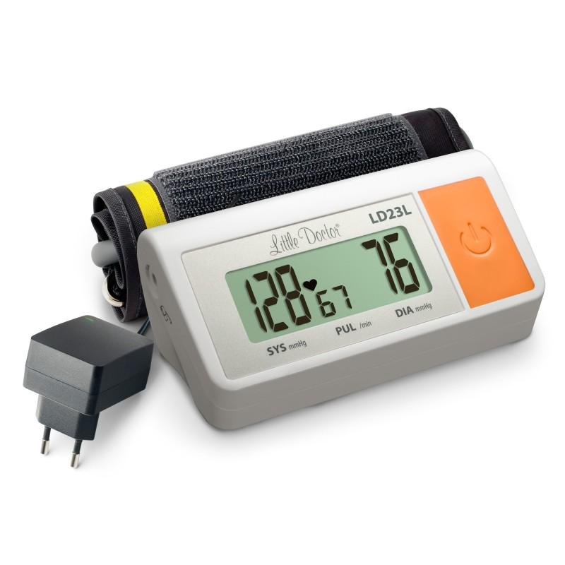 Tensiometru electronic de brat Little Doctor LD 23 L, manseta 36-43 cm, adaptor priza inclus, Alb 2021 shopu.ro