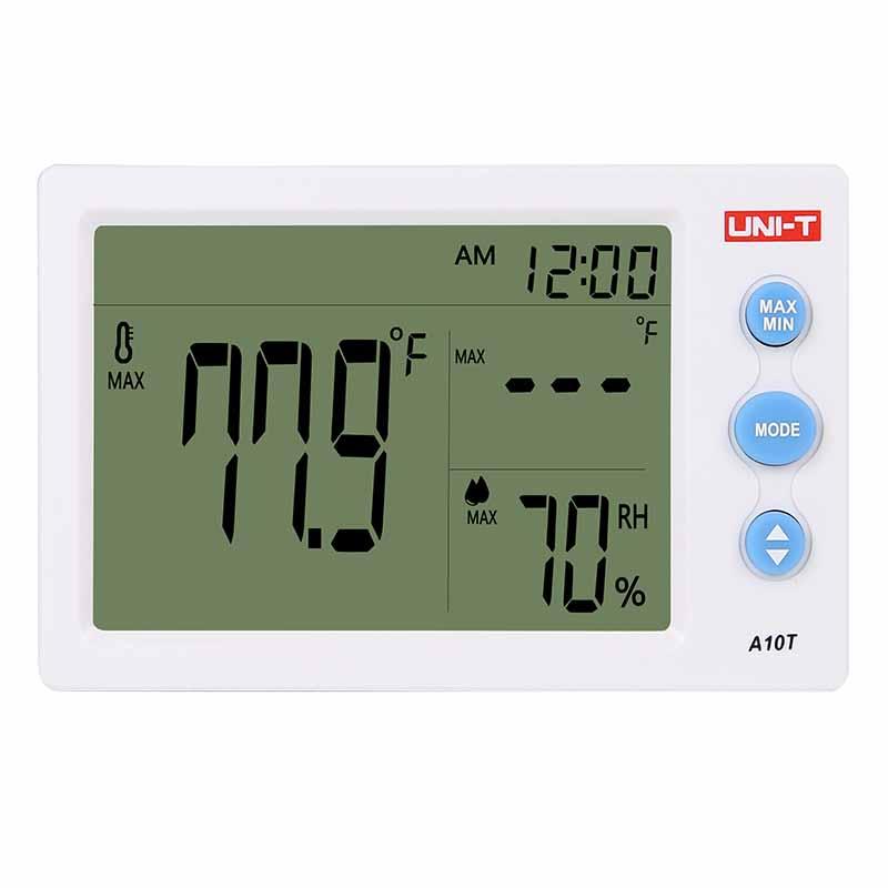 Termohigrometru digital A10T UNI-T, alarma, ceas 2021 shopu.ro