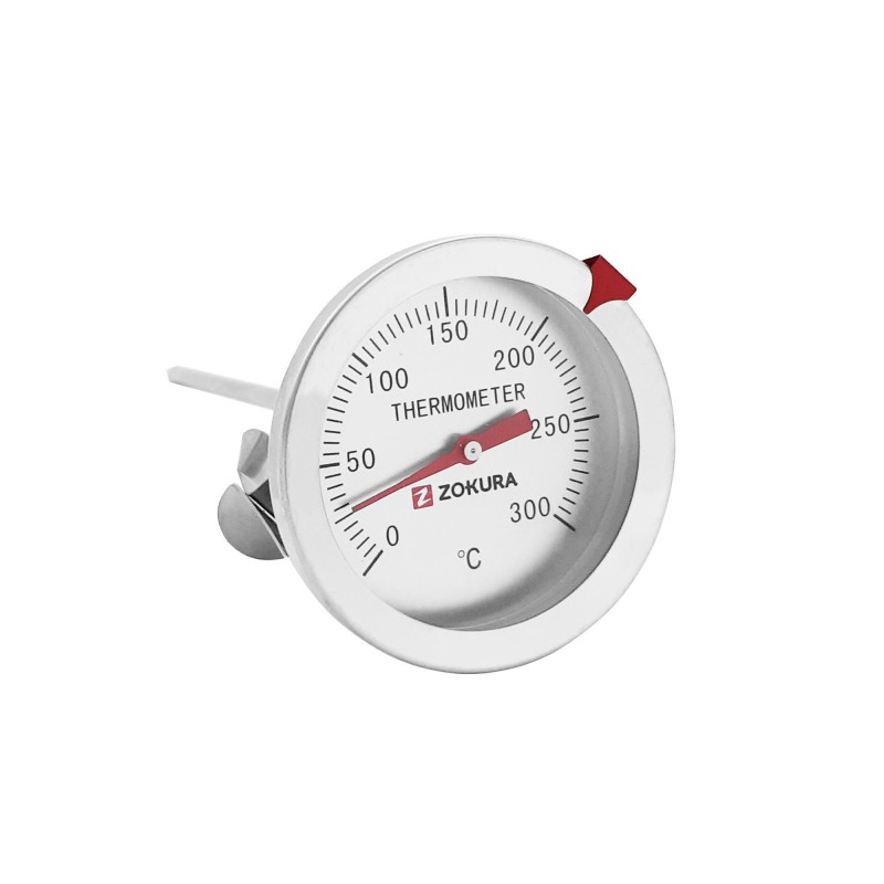Termometru bucatarie Zokura, 300°C, 12.5 cm, clema prindere, inox 2021 shopu.ro