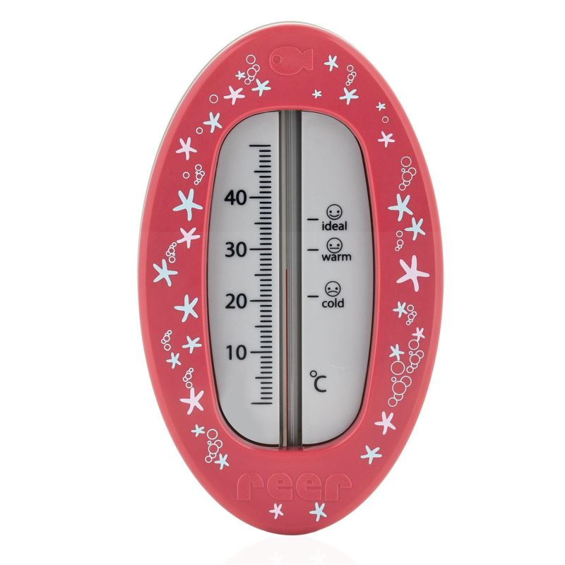 Termometru de baie Reer, fara mercur, 10 x 6 cm, Roz 2021 shopu.ro