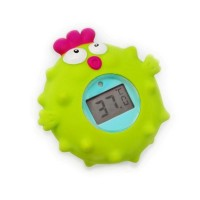 Termometru de baie Pasare Escabbo, rezistent la apa, alarma, ecran LCD, 0 luni+