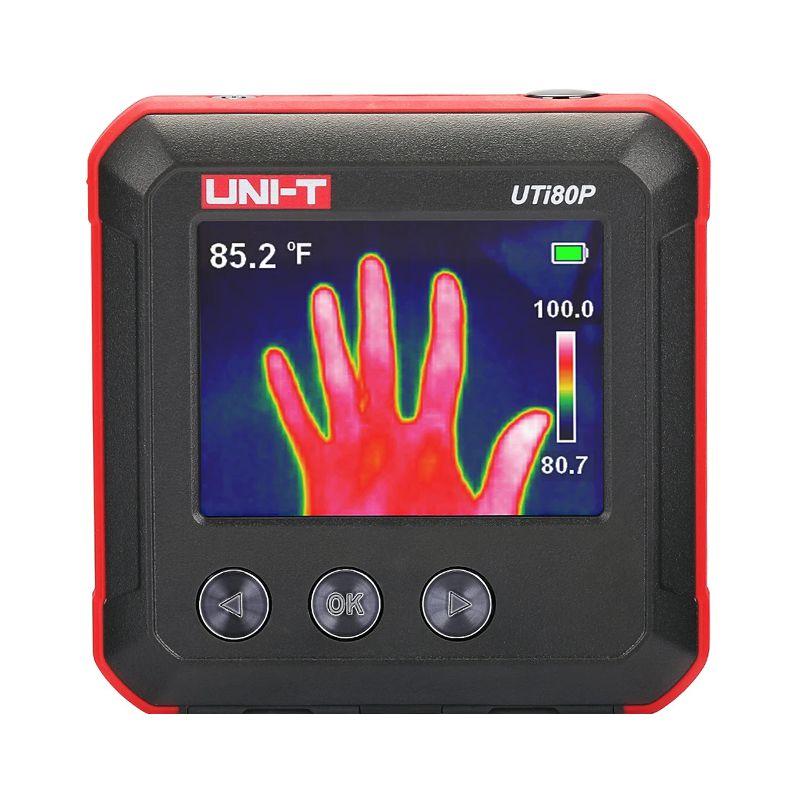Termometru digital UTI80P Uni-T, ecran LCD, 1300 mAh, cablu microUSB, geanta transport 2021 shopu.ro