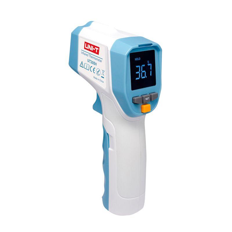 Termometru infrarosu fara contact Uni-T, LCD, alarma sonora,160 x 74 x 48 mm, Alb/Albastru 2021 shopu.ro