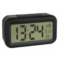 Termometru cu ceas si senzor de lumina TFA, negru