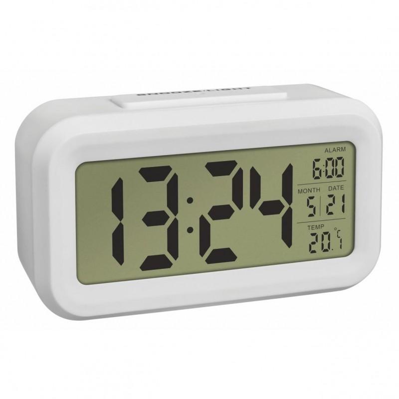 Termometru cu ceas si senzor de lumina TFA, alb