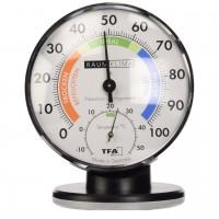 Termometru si higrometru clasic de precizie TFA, ecran 10 cm, suport demontabil