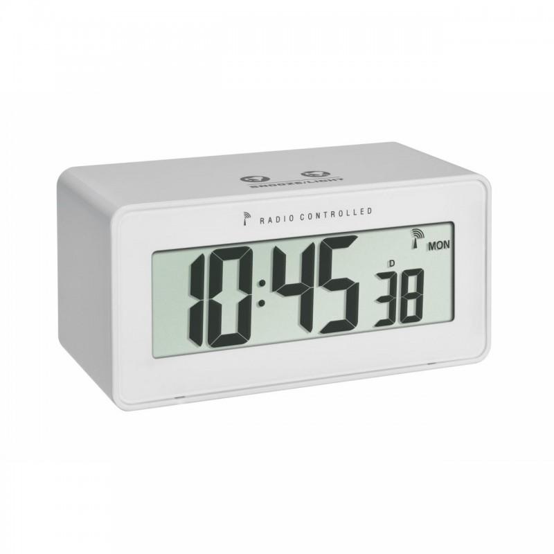 Termometru si higrometru TFA cu ceas, ecran LCD iluminat, alarma