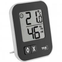 Termometru si higrometru de camera TFA, LCD, memorare date