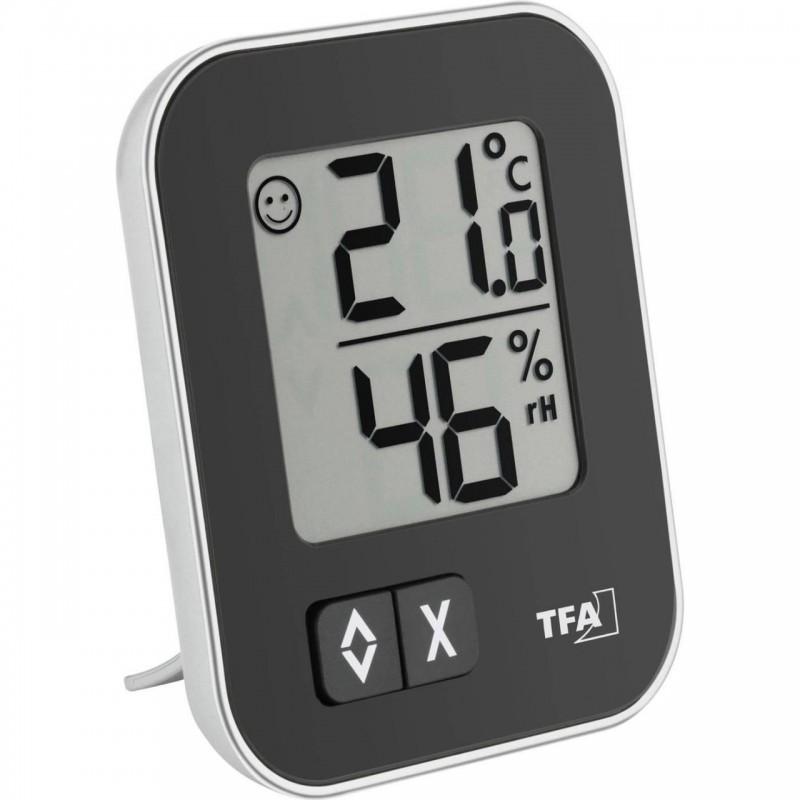 Termometru si higrometru de camera TFA, LCD, memorare date 2021 shopu.ro