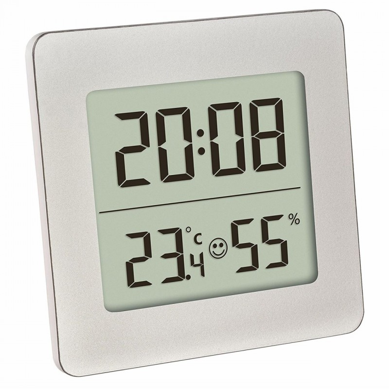 Termometru si higrometru digital cu ceas si alarma TFA, LCD, buton snooze 2021 shopu.ro