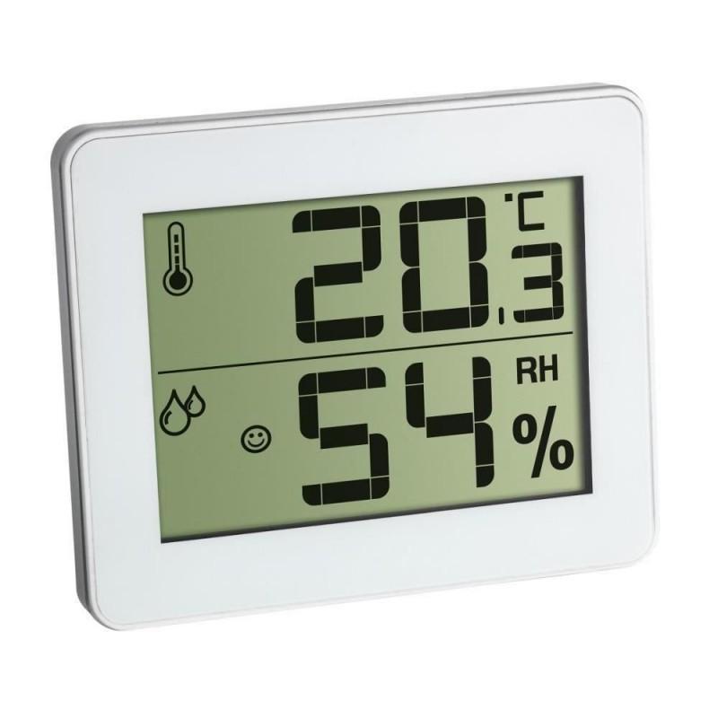 Termometru si higrometru digital de camera TFA, extra-plat, alb 2021 shopu.ro