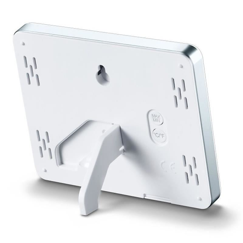 Termometru si higrometru digital de camera TFA, extra-plat, alb
