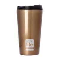 Termos cafea EcoLife, 370 ml, Bronze