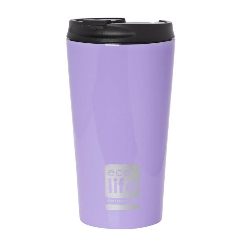 Termos cafea EcoLife, 370 ml, Lilac 2021 shopu.ro