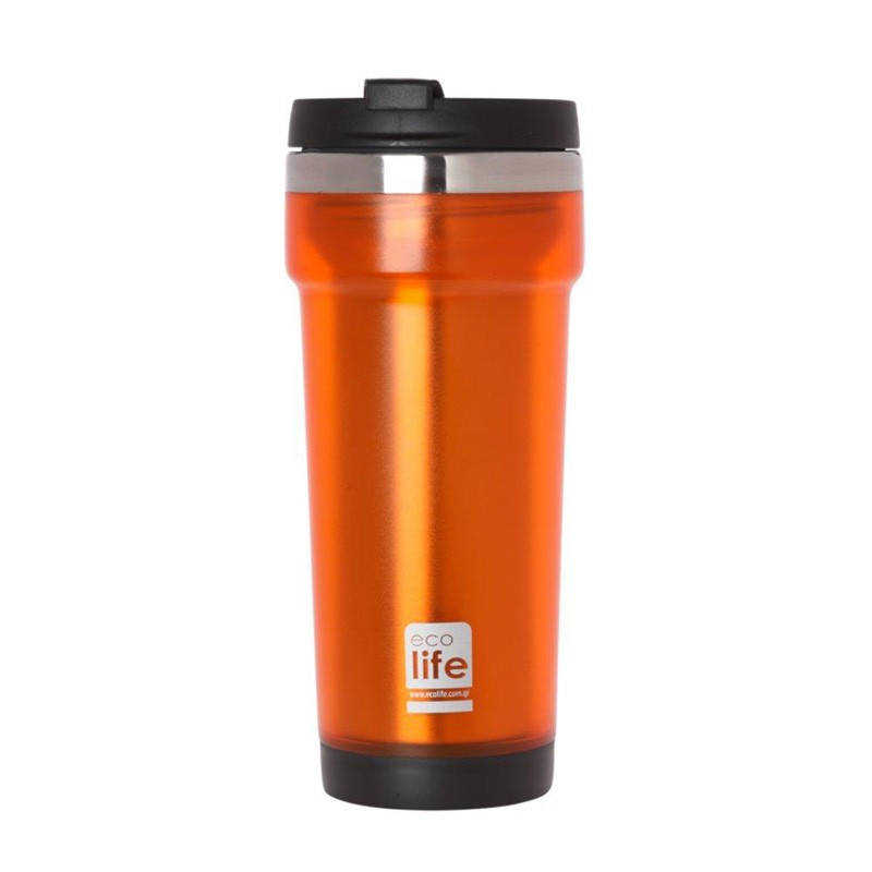 Termos cafea EcoLife, exterior plastic, 420 ml, Orange 2021 shopu.ro