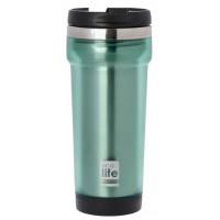 Termos cafea EcoLife, exterior plastic, 420 ml, Verde