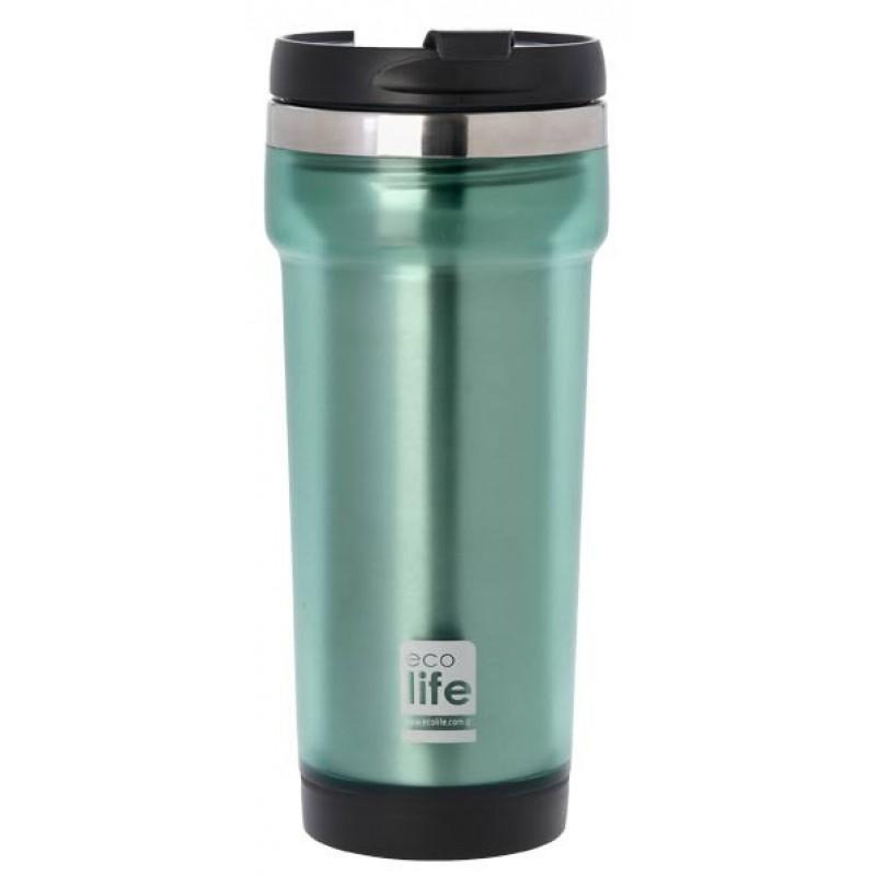 Termos cafea EcoLife, exterior plastic, 420 ml, Verde 2021 shopu.ro
