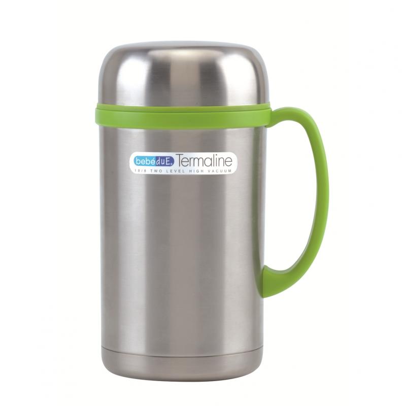 Termos BebeduE pentru alimente solide sau lichide, 500 cc, otel inoxitabil, gri 2021 shopu.ro