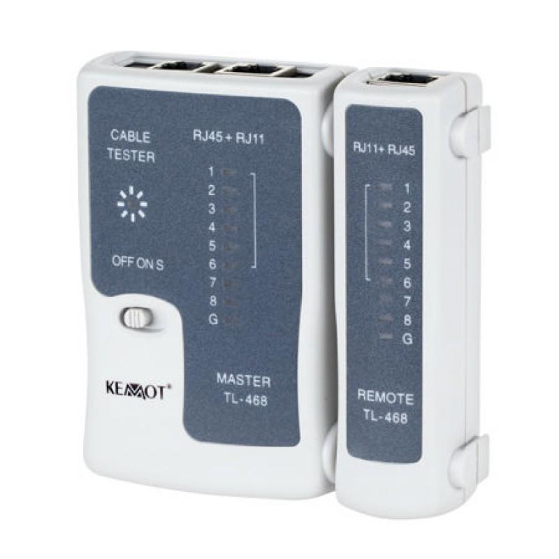 Tester cablu UTP Kemot, 4 perechi de cate 2 fire sau coaxial cu mufe BNC shopu.ro