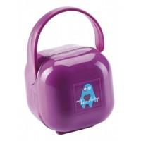 Cutie portabila pentru suzeta Thermobaby, plastic, Mov