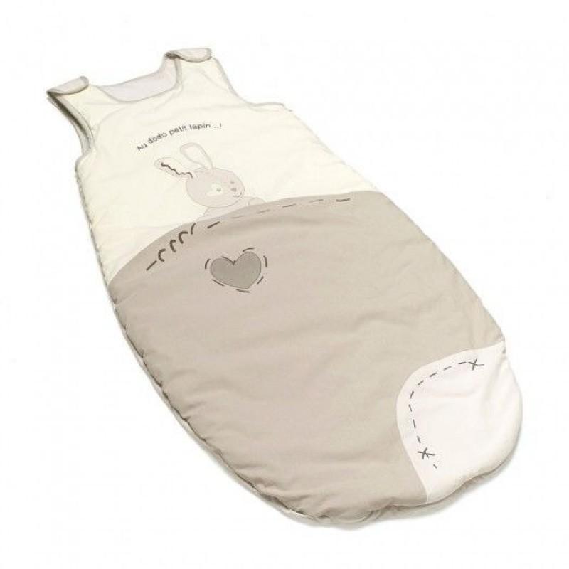 Sac de dormit pentru iarna Thermobaby, bumbac, 100 cm, 6-36 luni, model good night bunny 2021 shopu.ro
