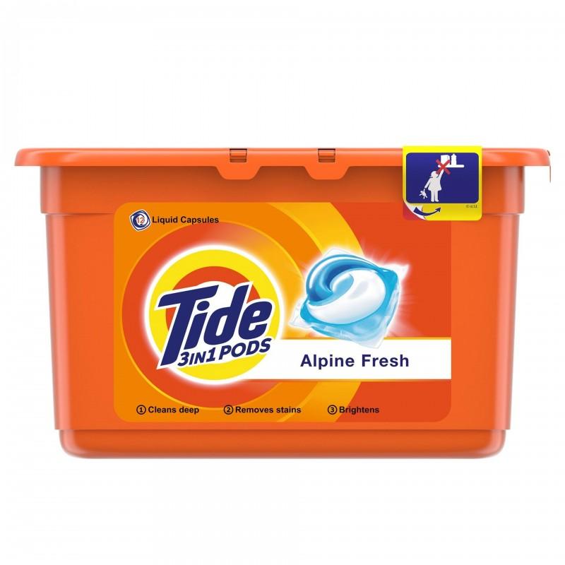 Detergent automat capsule Tide Alpine Fresh, 12 x 24.8 g shopu.ro