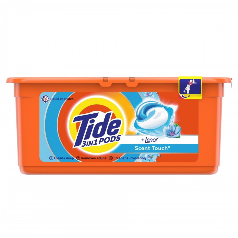 Detergent automat capsule Tide Touch of Lenor, 26 x 24.8 g, 26 spalari 2021 shopu.ro