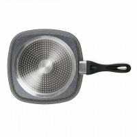 Tigaie grill Cooking Heinner, 28 cm, capac, suprafata antiaderenta, maner ergonomic, baza inductie