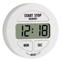Timer digital pentru bucatarie Tfa, 55 x 17 x 55 mm, plastic/cauciuc, cronometru, suport magnetic, Alb